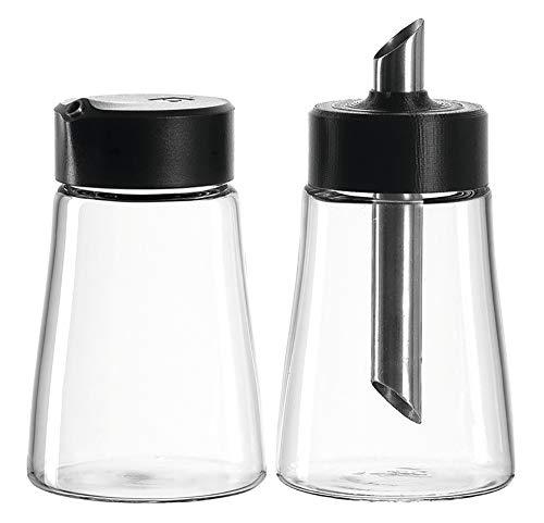 Leonardo Senso Milchkännchen/Zuckerstreuer, 2-er Set, 300 ml, Klarglas und Kunststoff, 029774