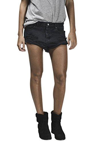 Simplee Apparel Damen Glänzende Stoff Reizvoll Shulterfrei Slash Neck Verstellbar Kragen Langarm Jumpsuit Shirt Pullover Schwarz Weiß Weiß