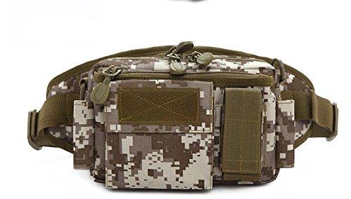 Zll/Outdoor Sports Flasche Tasche Army Camouflage Taktik Taschen Running Herren und Frauen reiten Klettern Multifunktional tragbar Paket Beige