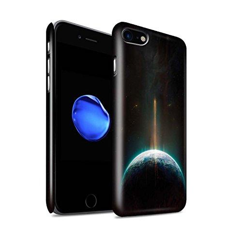 Offiziell Chris Cold Hülle / Glanz Snap-On Case für Apple iPhone 8 / Raumfahrzeug Muster / Galaktische Welt Kollektion Phönix/Raumzeit