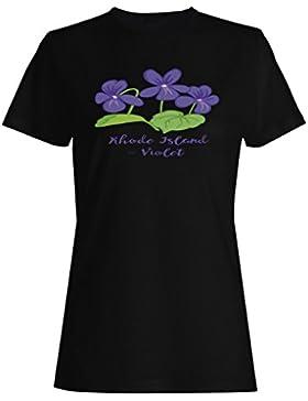 Rhode Island Violeta camiseta de las mujeres n785f