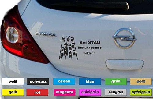Rettungsgasse bilden Aufkleber Autobeschriftung Sticker Heckscheibe Breite 18 cm