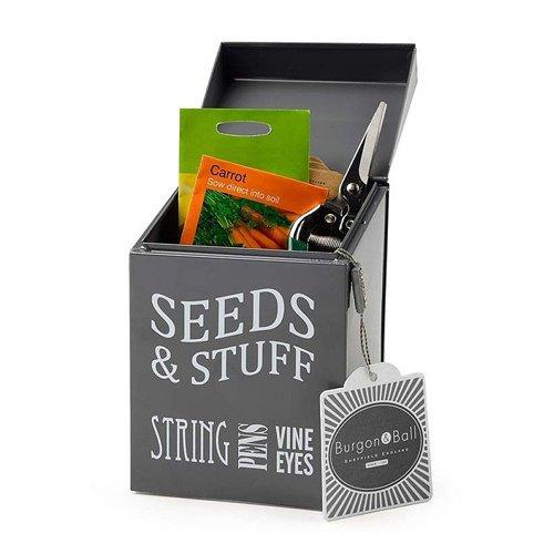 Burgon & Ball GYO/seedgrey Saatgut, und Sachen Dose–Slate Grau (Lackierte Aufbewahrungsbox)