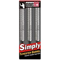 ONE80 Steel-Dartpfeile Barrel Dryad Steeltip 22g - Dardo de acero (22 g), color plateado