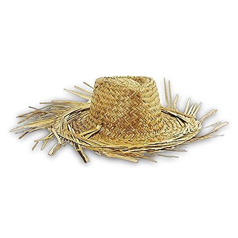 4x Chapeau de paille Hawaï avec franges Chapeau de paille taille unique