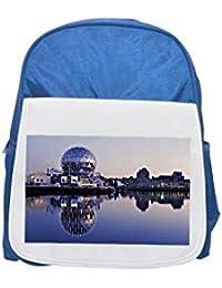 Science World, False Creek, Vancouver Printed Kid s blue Backpack, cute Backpacks