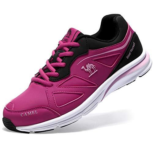 ef38595be62 CAMEL CROWN Zapatillas de Mujer para Running Sneakers Deportivos Rosa Roja  39 EU