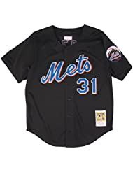 Mike Piazza New York Mets Mitchell & Ness MLB Authentic Button Up 2000 BP Jersey Maillot