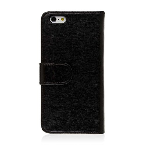 "EMPIRE KLIX Genuine Leather Wallet Case for Apple iPhone 6 Plus 5.5"" - Textured Brown Genuine Leather (Screen Protector Included) Black, KLIX Genuine Leather"