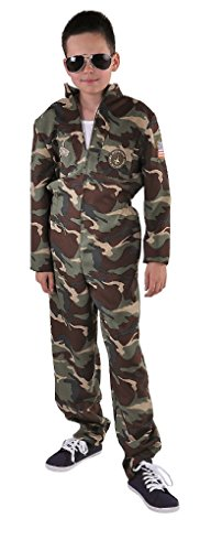 M215065-88-152 camouflage Kinder Junge Piloten Jetfighter Overall ()