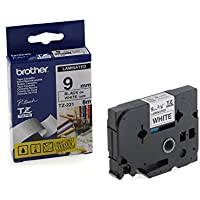 Brother TZE221 - Cintas para impresoras de etiquetas (TZ, Negro, Inyección de tinta, 9 mm, 8m, Presentación Caja)