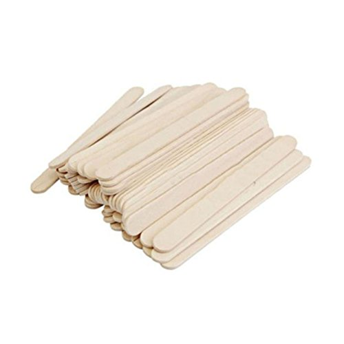BESTONZON 200pcs/Pack Ice Cream Sticks Wooden Popsicle Stick DIY Crafts Material