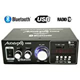 Audibax KANSAS Amplificador HiFi con Bluetooth / MP3 / FM 2 x 40W (Reacondicionado Certificado)