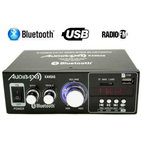 Foto de Audibax KANSAS Amplificador HiFi con Bluetooth / MP3 / FM 2 x 40W (Reacondicionado Certificado)