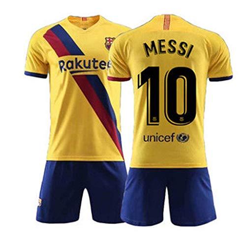 2019-2020 Barcelona Trikot, Messi 10-Junge T-Shirt, Fußball-Sportbekleidung, Herren Trainingstrikot aus Polyester - Trikot Messi Jungen