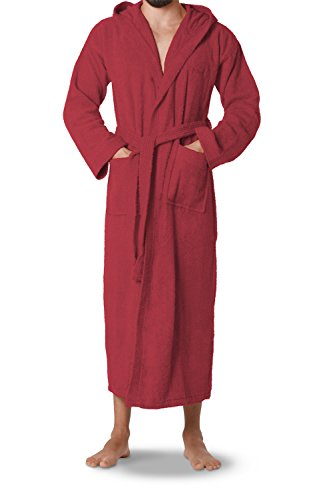 OAHOO Unisex Bademantel Extra Lang Jester Red-XL