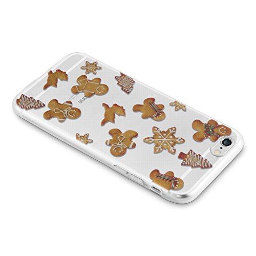 "iPhone 6 Hülle, JAMMYLIZARD Transparentes Gel Weihnachts-Sketch Back Cover aus Silikon für iPhone 6 / 6s 4.7"", CHRISTMAS IS COMING LEBKUCHENMANN"