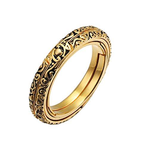 SSUPLYMY Mode astronomische Kugel Ring, Vintage Wissenschaft Schmuck Zubehör schnitzen Muster Ring Männer Damen Mode Öffnender Ring Astronomical Globe Ring Vintage Schmuck Herren Frauen Ring (Männer Eye Ring Evil)