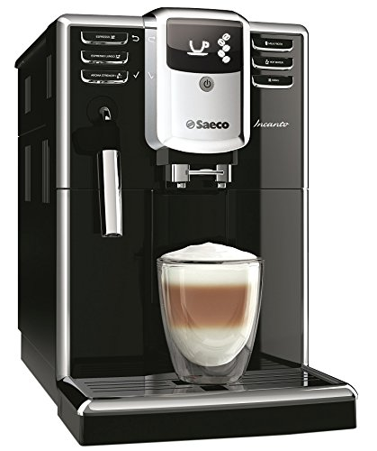 Saeco Incanto hd8911/01Machine à café automatique Aqua Clean, Mousseur à Lait Classique, Noir