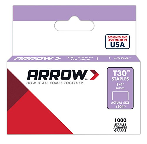Arrow 031006 304 Boîte de 1000 Agrafes 6 mm pour Agrafeuse T30