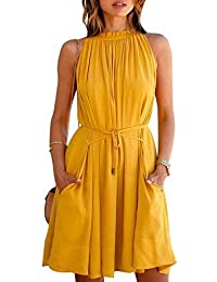 Vimmi Style Yellow Colour Knee Length Party wear Dress for Girls and Ladies