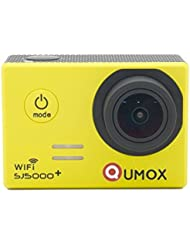 QUMOX Original SJ5000 WIFI Plus - Cámara de Deporte para casco Impermeable, Video de Alta definición 1080p Full-HD de 2.0 pulgadas 2'' 170 ° Lente Submarino HD impermeabilizan la videocámara DVR, Color Amarilla