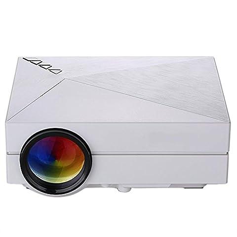 Excelvan GM60 Mini Projecteur VidéoProjecteur Portable Multimédia Théâtre Maison LED 800 * 480 1000 Lumens(80 ANSI Lumens)Home Cinéma HDMI USB AV VGA SD-