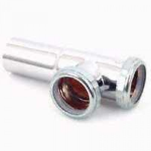 Plumb Pak Pp1700sn Chrome End Outlet Tee, 1-1/2 by Plumb Pak - Chrome End-outlet-tee