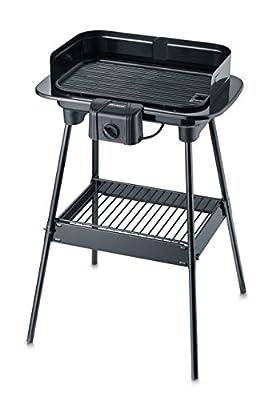 SEVERIN PG 8534 Barbecue-Grill (1.600W, Standgrill, Grillfläche (38 x 22,4cm)) schwarz