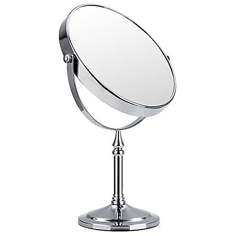 Miroir Grossissant 8 Fois - Songmics Double Face Miroir de table, Miroirs