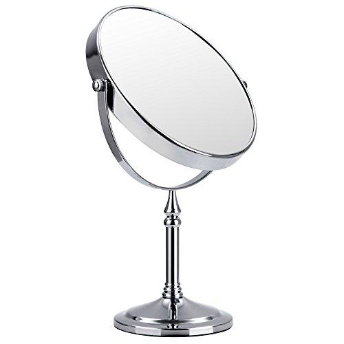 Songmics 10 fach Kosmetikspiegel 8 inch Schminkspiegel doppelseitiger Standspiegel BBM006
