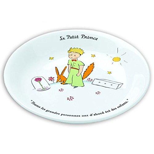 Assiette creuse 18cm Le Petit Prince, la rose, le Renard et la boite \
