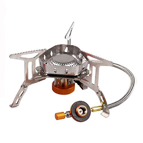 Sagafly Portable Camping Gas Stove Mini, 3500W Windproof Backpacking Stove with Piezo Ignition Outdoor...