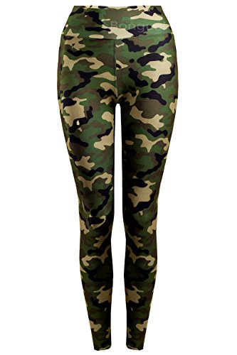 Army Military Pants (Thermo Leggings Army Military Hose Tarn CamouflageTreggings Übergang M/L=34-36 Grün)