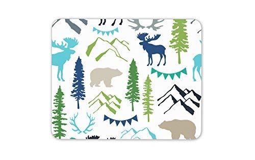 Waldtiere Mauspad Rotwild Bär Elch Kanada Pad Geschenk Computer-Geschenk # 8188