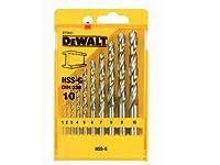 DeWalt DT5921-QZ - Pack de 10 brocas para metal HSS-G, DIN 338, en caja de plástico
