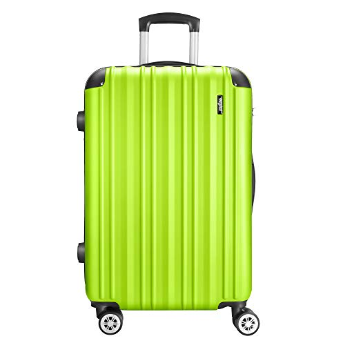 Amasava Hartschale 4 Rollen Handgepäck Trolley Koffer Bordgepäck Kabinentrolley Reisekoffer Gepäck Leichtgewicht ABS, Genehmigt für Rya...