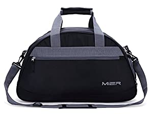 MIER Gym Bag Sports Holdall Weekend Travel Duffel Bag with Shoes Compartment for Women and Men, 2 Colors