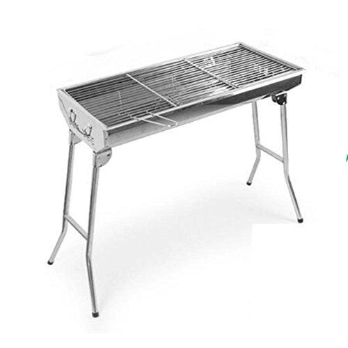 Folding barbecue barbecue pozzi carbone più spessi all'aperto portatile in