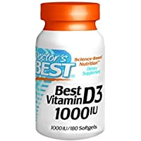 Doctor's Best Best Vitamin D3 1000 IU, Softgel Capsules, 180-Count by Doctor's Best