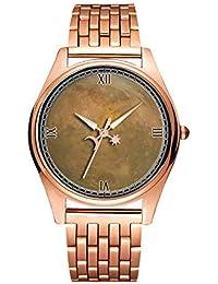 Reloj de Pulsera de Cuarzo Dorado Minimalista de Moda Ultra Delgado Resistente al Agua, diseño artístico,…
