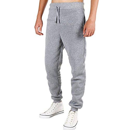 Herren Hose Xinan Men Sportswear Fitness Hosen Herrenhosen Jogging Hose Lockers Lässiger Sportwear Freizeit Kleidung Frühling Patchwork Hosen (L, Grau) (Shorts Patchwork-jungen)