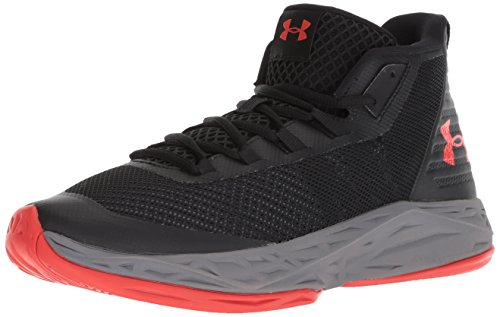 Under Armour Men\'s Jet Mid Basketball Shoe, Black/Steel/White,