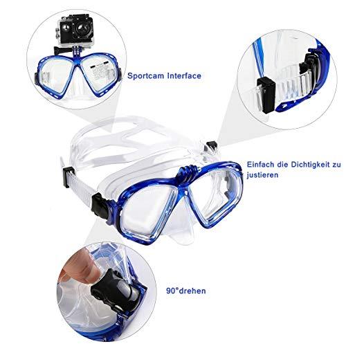 Zoom IMG-1 weinas maschera subacquea da snorkeling