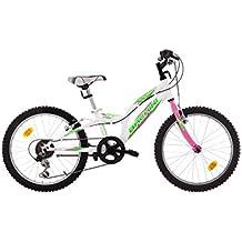 """Bikesport CASPER Kid Bike 20""""-Bicicleta para niños, , 6 cambios , azul y blanco"""