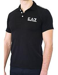 Polo EA7 EMPORIO ARMANI homme manches courtes noir