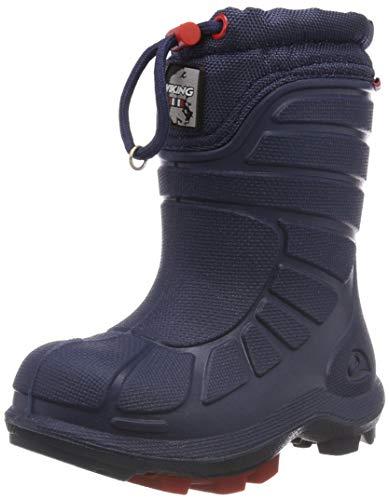 Viking Unisex-Kinder EXTREME Schneestiefel, Blau (Navy/Red 510), 34 EU