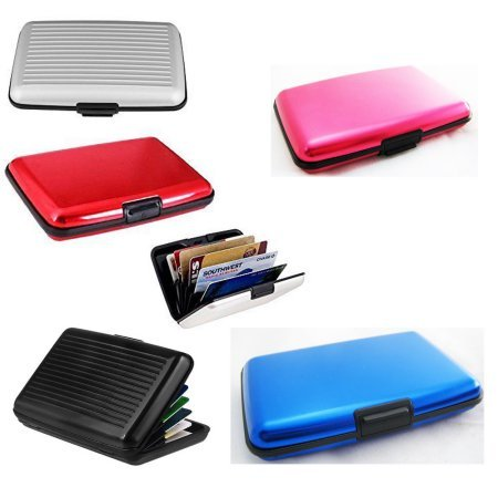 B TO B TRADERS Aluma Security Aluminium Credit Card Wallet Card Pack Holder Case Box Protector - Multi Color (2)  available at amazon for Rs.180