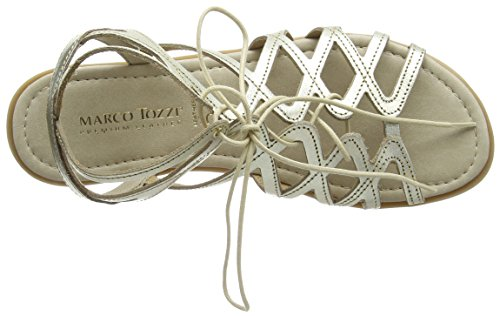 Marco Tozzi Premio - 28146, Sandali alla schiava Donna Argento (Silber (PLATINUM 957))
