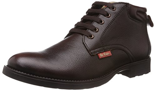 Lee Cooper Men's Brown Leather Boots (LC9519) - 10UK/India (44EU)